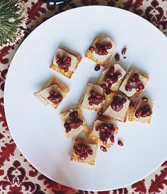 Foie Gras with Date Purée and Pomegranate