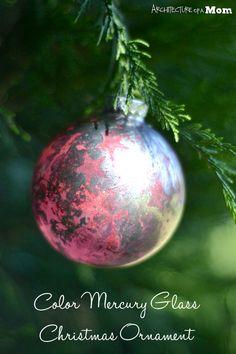 Colored Mercury Glass Christmas Ornaments