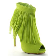 SHAKE COLLECTION FRANCINE Women's Peep Toe Fringe Stiletto Heel Ankle Booties *** Read more  at the image link.