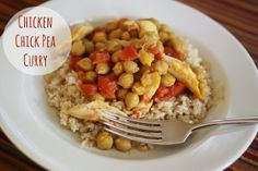 The Larson Lingo: Crocktober: Chicken Chick Pea Curry {+ A Crock Pot Giveaway!}