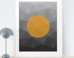 Geometric Scandinavian Minimalist Art | Printable scalable to 50x70 cm