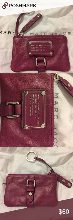 Marc by Marc Jacobs keychain pouch Gorgeous keychain pouch in a soft purple leather. Great for storing credit cards, money, and keys while also looking stylish! Marc by Marc Jacobs Accessories Key & Card Holders
