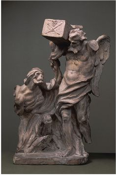 A terracotta model probably made by Gian Lorenzo Bernini, c.1670, depicts symbolic personifications of Time and Death. (Victoria & Albert Museum)