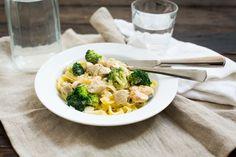 Pasta met kip, broccoli en mosterd-roomsaus