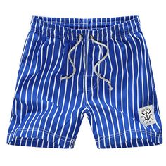 e2218a205907 Summer Mens Fashion Stripe Shorts Casual Beach Shorts Pants Beach Pants