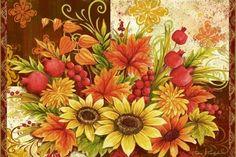 Sunflowers And Pomegranate Hz by Elena Vladykina