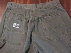 Women's Lee Dungarees Carpenter Jeans Size 13 ARMY GREEN  31 X 32 #Lee #Carpenter