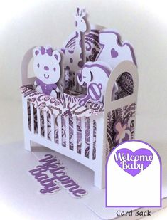 Baby Crib Card In A Box 3D SVG by MyCasualWhimsy on Etsy