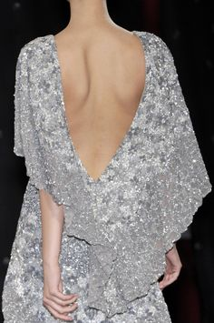 Elie Saab   ah the draping silver back .....no necklace - lovely nape, check