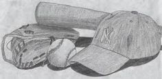 Image result for baseball pencil drawing