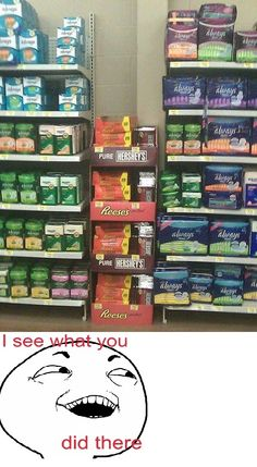 whoever is stocking those shelves knows what's up, now they just need to put a box of cheezits or goldfish or something near there too