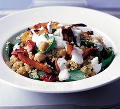 Spiced bulghar, chickpea & squash salad recipe - Recipes - BBC Good Food