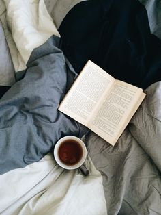 This is where I like to be often - tea drinking, snuggled up, book in hand. #tea…