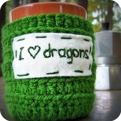 Just saying when you learn to do a tube in knitting... A homemade I <3 dragons mug cozy would make my birthday.  @Patricia LoCascio