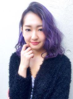 """ラベンダーミディ【beyond-""""E""""】 http://www.beauty-navi.com/style/detail/35356?pint ≪#haircolor #hairstyle #color #ヘアカラー #ヘアスタイル #髪形 #髪型 #外国人風 #ラベンダー #ヴァイオレット #パープル #紫 #lavender #purple #violet #mediumhair #mediumstyle #ミディアム #セミディ ≫"""