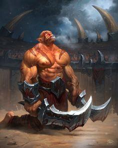 Orc gladiator by KAaSTuroveC.deviantart.com on @DeviantArt
