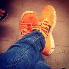 orange nike free 5.0 + #mens #womens