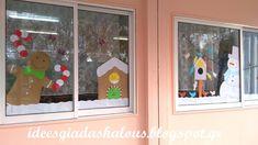 Ιδέες για δασκάλους:Διακόσμηση παράθυρου για τον χειμώνα και τα Χριστούγεννα! Xmas Crafts, Advent Calendar, Holiday Decor, Frame, School, Home Decor, Decoration Home, Christmas Crafts, Frames