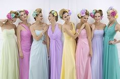 Colorfull bridemaids