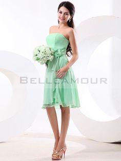 Robe de demoiselle d 39 honneur courte vert d 39 eau for Robes de demoiselle d honneur mariage rustique chic