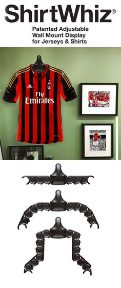 Hang any jersey easily and professionally. Essential for any man cave Man Cave Diy, Man Cave Home Bar, Soccer Bedroom, Man Cave Games, Soccer Gifts, Custom Beach Towels, Bar Gifts, Man Cave Garage, Bars For Home