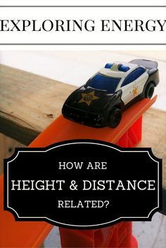 As my son plays with his toys, we discuss conservation of energy, and how height and distance are related.