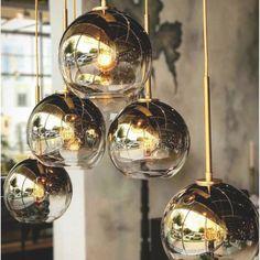 Modern Pendant Light, Glass Pendant Light, Globe Pendant, Glass Pendants, Pendant Lamp, Gold Wall Lights, Gold Ceiling, Cheap Chandelier, Chandelier Lighting