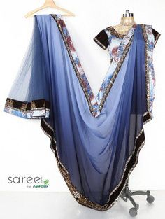 Grey Georgette Saree with Stone and Pearl Work