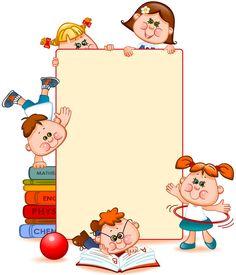 Cartoon school children with blank paper vector 07 - WeLoveSoLo