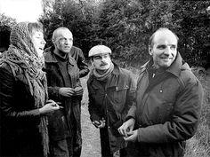 Larissa Tarkovskaya, Aleksandr Kaidanovsky, Andrei Tarkovsky and Anatoly Solonitsyn on the set of Stalker (1979)