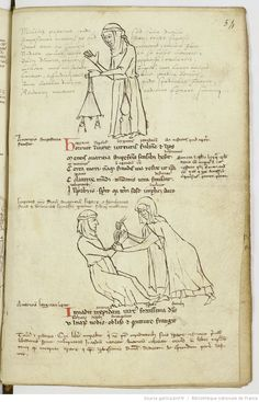 page 54r Medieval World, Medieval Art, Medieval Manuscript, Illuminated Manuscript, Commonplace Book, Medieval Dress, Bnf, 12th Century, Dark Ages