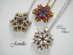 SCHEMA PENDENTIF JAMILLA expliqué étape par étape et en images : Tutoriels de fabrication par passion-bijoux