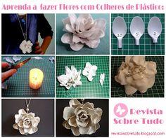 Crie uma rosa feita com colheres plásticas