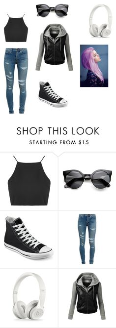 """~OOTD~"" by crazytaylah-22 ❤ liked on Polyvore featuring Topshop, Converse, Yves Saint Laurent, J.TOMSON and ootd"