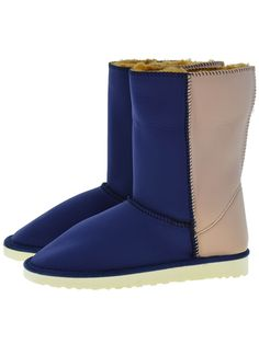 Scuba Neoprene Fabric Everest Air winter boots. Model style: Neo-Navy/Visone Gaga