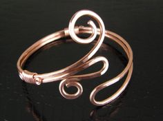 Adjustable Abstract Copper Arm Cuff Bracelet, Arm Band, Armlet