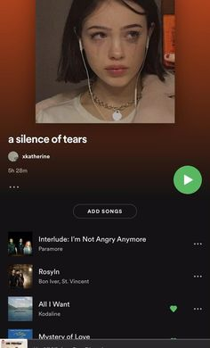 this is my playlist i use for when im crying or whatnot haha, but keep your head up princess, you got this <3   ~ ps. my spotify is @xkatherine so you should go and check out my other playlists! lmk what other playlists i should make too!! xox Indie Pop Music, Music Mood, Mood Songs, Listening To Music, Playlist Names Ideas, Pop Playlist, Good Vibe Songs, Cute Love Songs, Music Lyrics