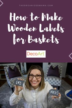 I love labels. Like I think it is the best way to keep an organized home. But not every bin or basket is easy to label. Some baskets you can add a bin clip. Basket Labels, Chalky Finish Paint, Love Label, Wooden Tags, Laundry Room Organization, Laundry Hacks, Better Homes And Gardens, May 7th, Creative Director