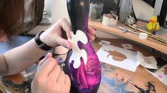 Airbrush Effects - Bowling Pin Rose