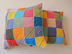 Ravelry: Carmela-Biscuit's Mitered Square Cushions