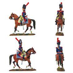 """Soldado del 2° regimiento de Carabineros - Francia - 1800 (Colección """"Caballeros de las Guerras Napoleónicas"""" editada por delPrado - 60 mm) Subido desde www.elgrancapitan.org"""