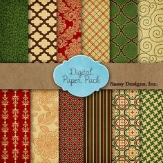 Free Download: 12 Free Digital Papers for Thanksgiving and Christmas