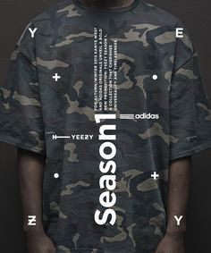 Typographic poster design for Adidas Originals x Kanye West Graphic Design Posters, Graphic Design Illustration, Typography Design, Graphic Tees, Web Design, Layout Design, Layout Inspiration, Graphic Design Inspiration, Estilo Street