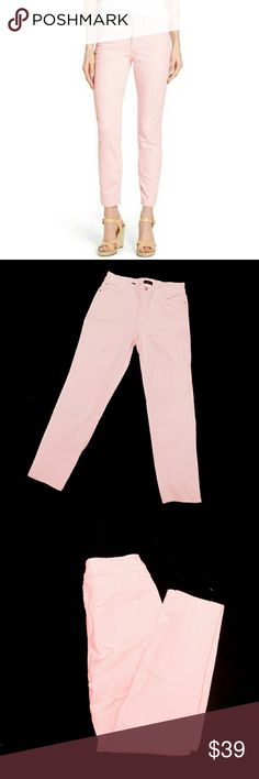 "NYDJ LIGHT PINK STRETCH ANKLE JEANS NYDJ LIGHT PINK ANKLE JEANS STYLE# M77J44DT4052 Pre-loved  Sz6 98% Cotton  2% Spandex  Get Ready for Spring with these Cute Stretch Light Pink Ankle Jeans 5 Pocket, Front Zip Closure, Belt Loops, Silver Tone Hardware & Rivets  Approx Meas Waist   14 1/2"" Inseam   26"" Rise   10""  Meas R Approx & Can be Interpreted Differently on How Meas Colors May Not be Exact due to Lighting or UR Screen NYDJ Jeans Ankle & Cropped"