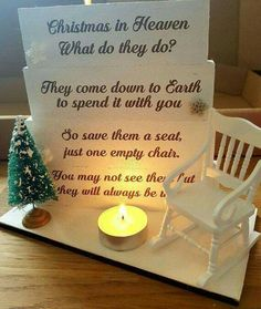 Great idea during the holidays if you lost a loved one.