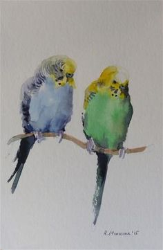 "Daily Paintworks - ""budgie13"" - Original Fine Art for Sale - © Katya Minkina"
