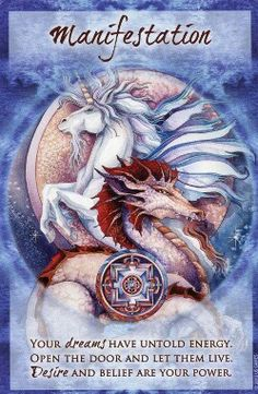 Magical Times Empowerment Cards [kin - I love that this card has both dragons and unicorns on it, both which have recently manifested as guides for me.]