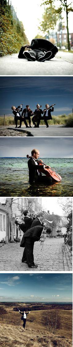 O fotógrafoNikolaj Lundconseguiu registrar músicos clássicos sem aquele conservadorismo conhecido das orquestras.