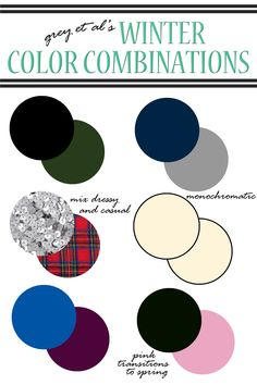 color combinations : winter.  winter outfit ideas.  winter color combos.