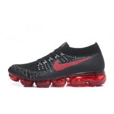 Nike Air VaporMax Flyknit 2018 black face red bottom air max running shoes  Nike Shoes For 91f2fb1ec